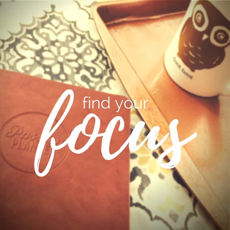 find your focus.