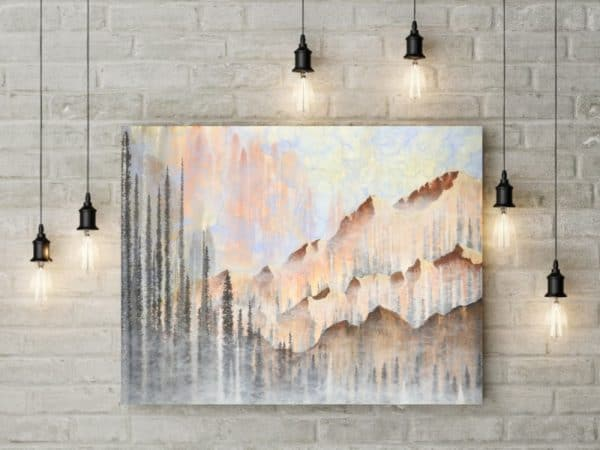nature art, landscape art, mountain art