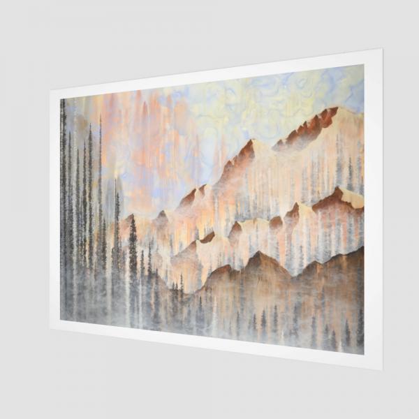 mountain art print, landscape art print, nature art print