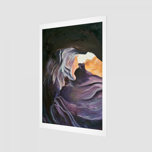 nature art print, colorful art print, landscape art print, desert art