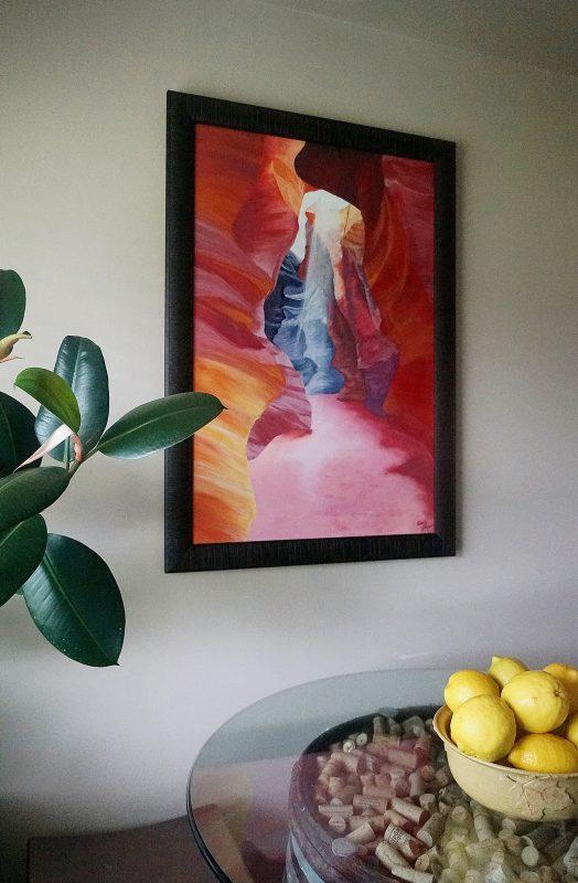 nature art, landscape art, colorful art