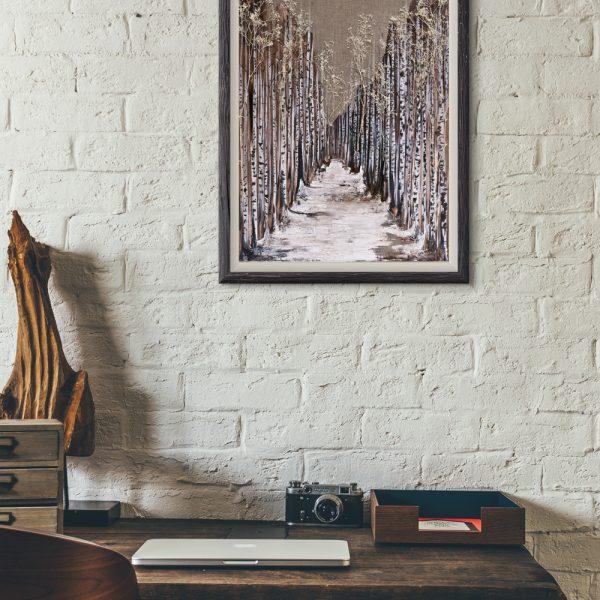 forest art, winter art, nature art