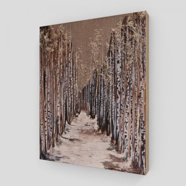 forest art print, tree art print, nature art print