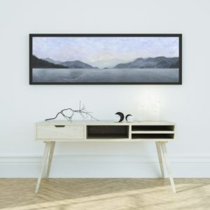 panoramic art, Montana art, mountain art