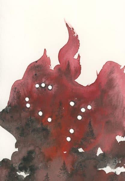 gemini art, zodiac art, constellation art