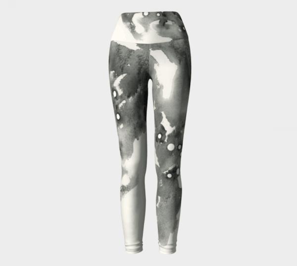Grey Leggings, Watercolor Leggings, Sport Leggings