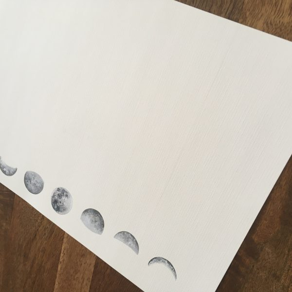 moon phase art, moon painting, moon phase painting