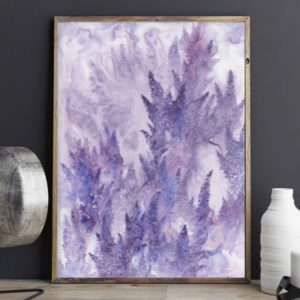 lavender art, lilac art, watercolor flower art
