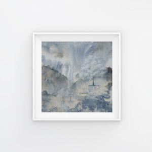 tree art, abstract art, blue art