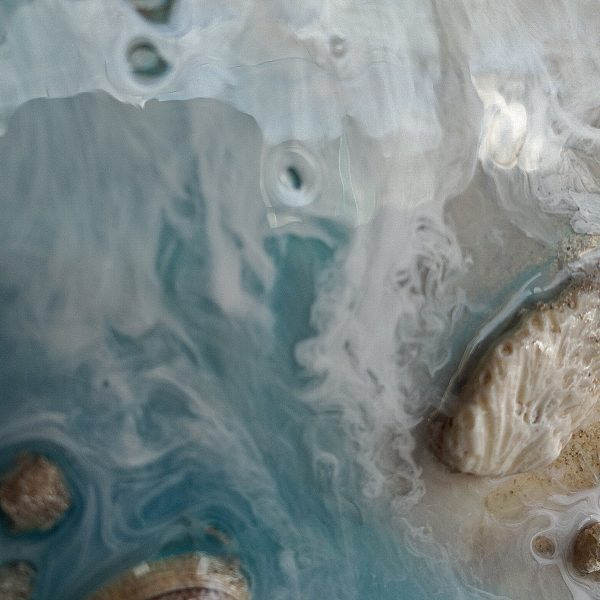ocean art, seashell art, sand painting