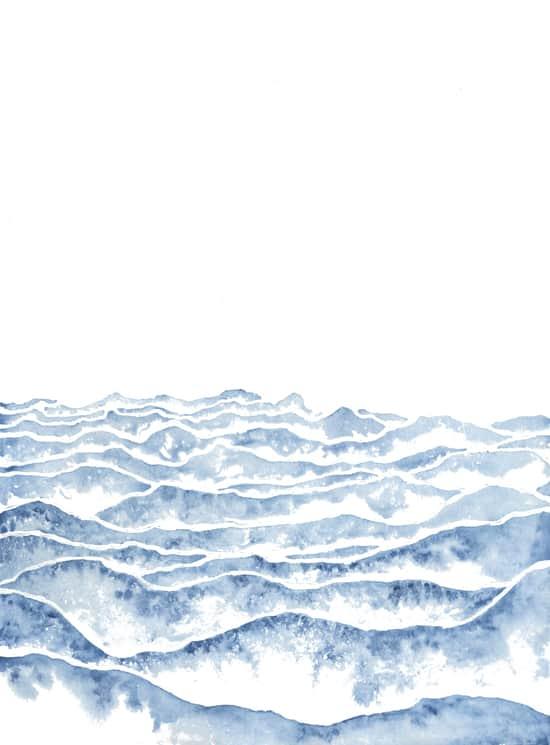 simple art, watercolor art, mountain art