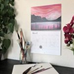 2020 Nature Art Calendar by Emily Magone 48