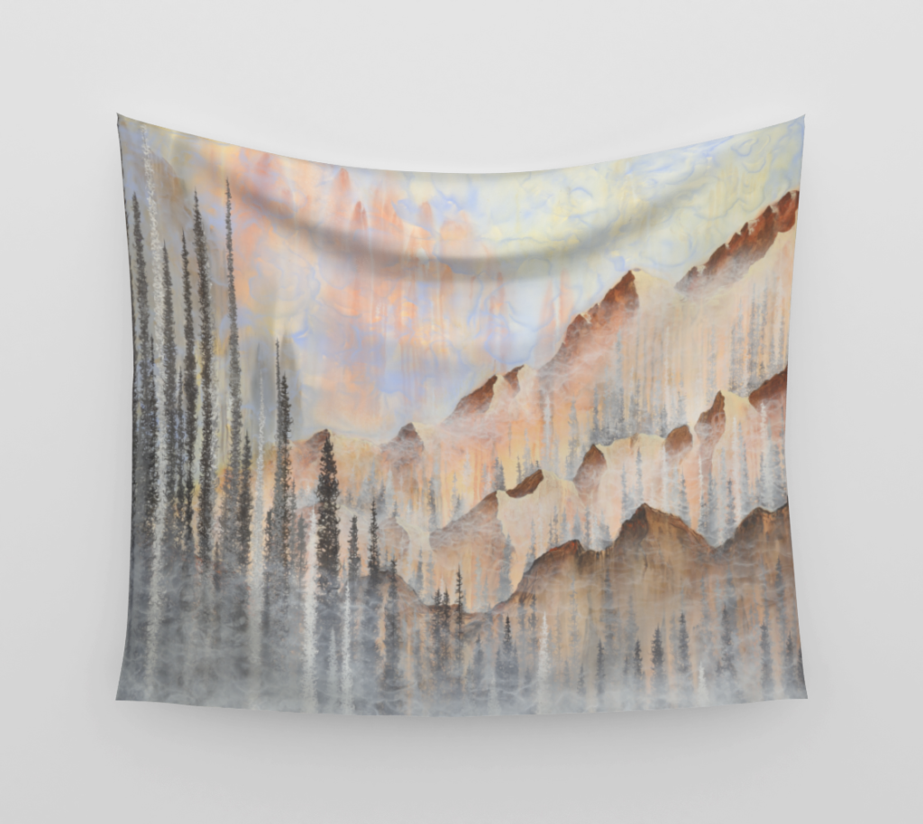 Afterburn Tapestry by Emily Magone