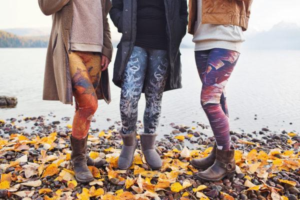 art leggings, printed leggings, eco friendly leggings