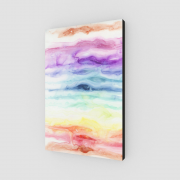 rainbow art print, watercolor rainbow, healing art print