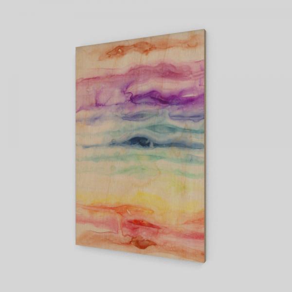 rainbow art print, watercolor rainbow, healing art print
