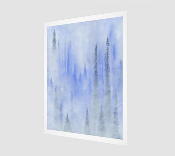 forest art, nature art print, tree art print