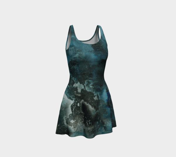 Dress Black Abstract Flare Dress 1 2