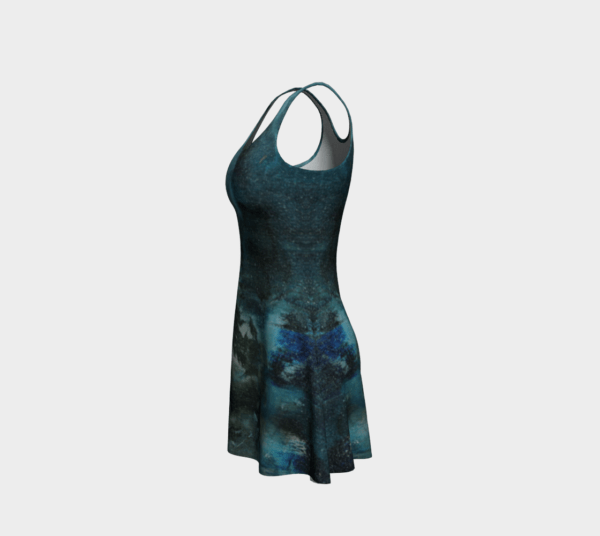 Dress Black Abstract Flare Dress 2 1