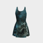 Dress Black Abstract Flare Dress 3 1