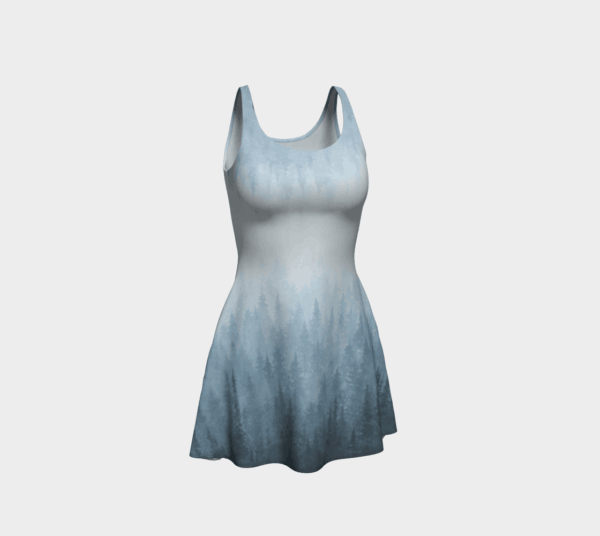 Dress Blue Forest Flare Dress 2
