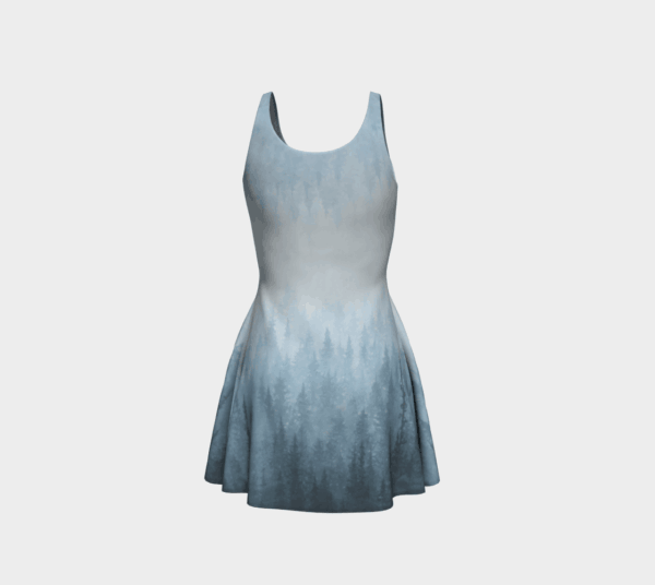 Dress Blue Forest Flare Dress 4