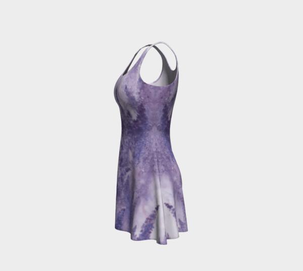 Dress Watercolor Lavender Flare Dress 1