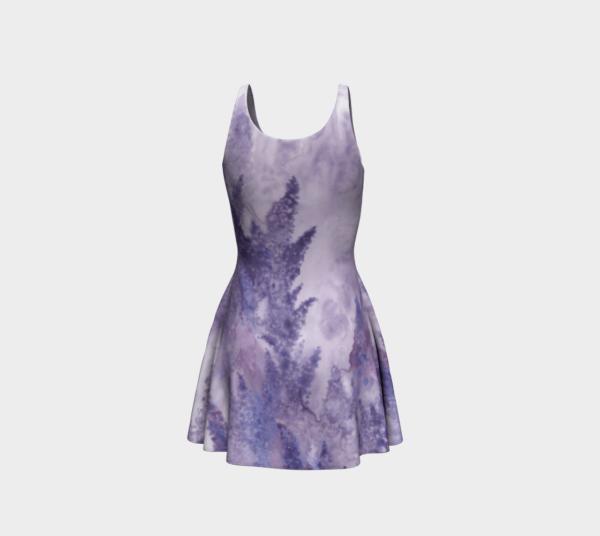 Dress Watercolor Lavender Flare Dress 2 1
