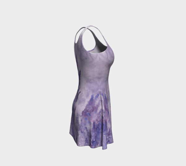 Dress Watercolor Lavender Flare Dress 3 1