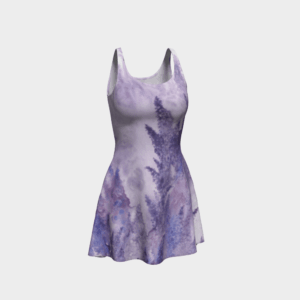 Dress Watercolor Lavender Flare Dress 4 2