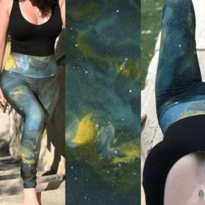 Green Galaxy Leggings