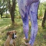 Purple Leggings, Watercolor Leggings, Floral Leggings
