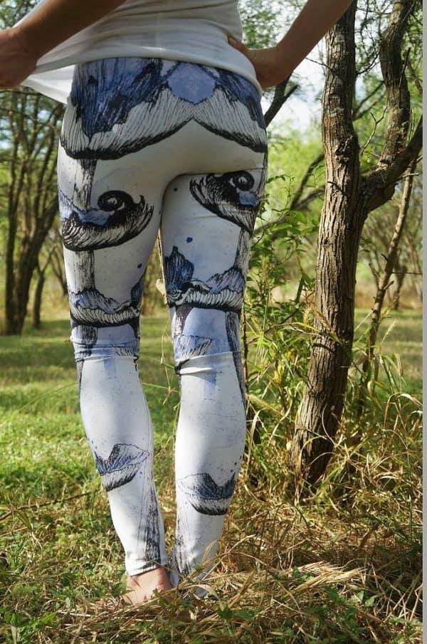 Leggings Blue Mushroom Leggings 1