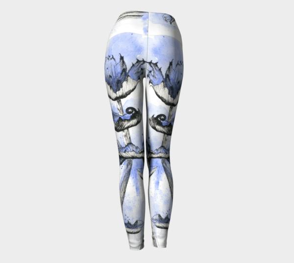 Leggings Blue Mushroom Leggings 3