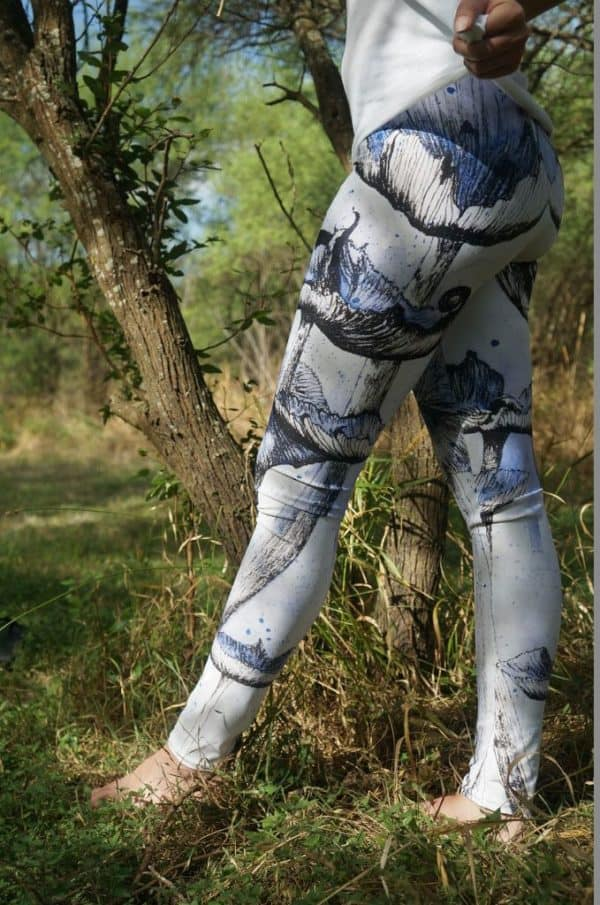 Leggings Blue Mushroom Leggings 4