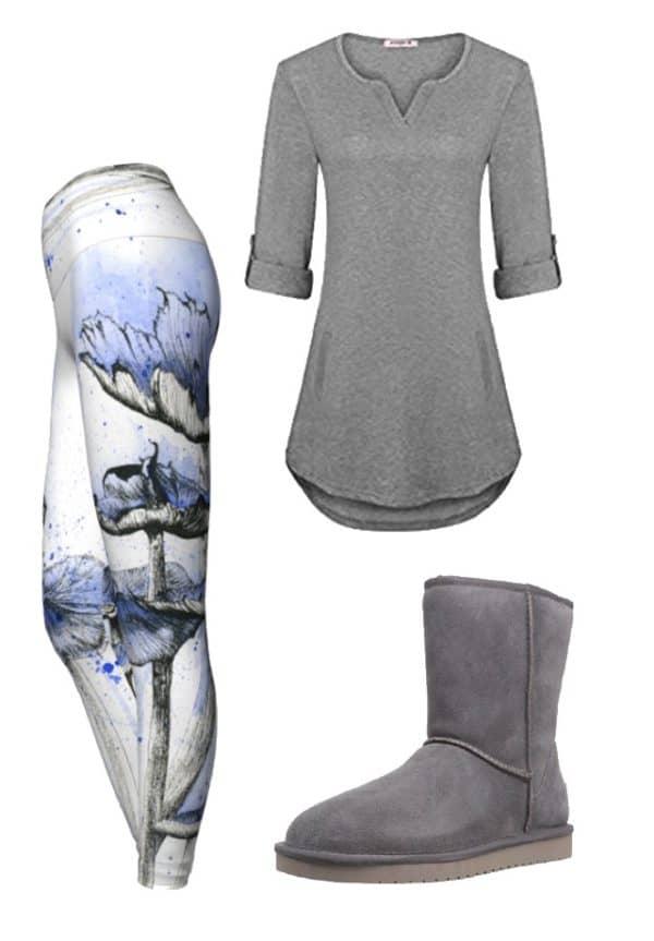 Leggings Blue Mushroom Leggings Outfit Ideas 1