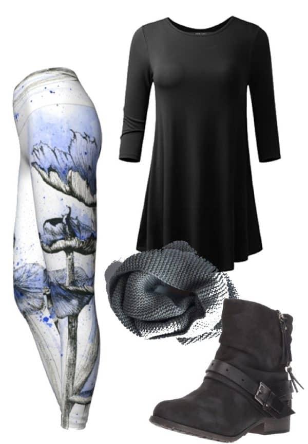 Leggings Blue Mushroom Leggings Outfit Ideas 2