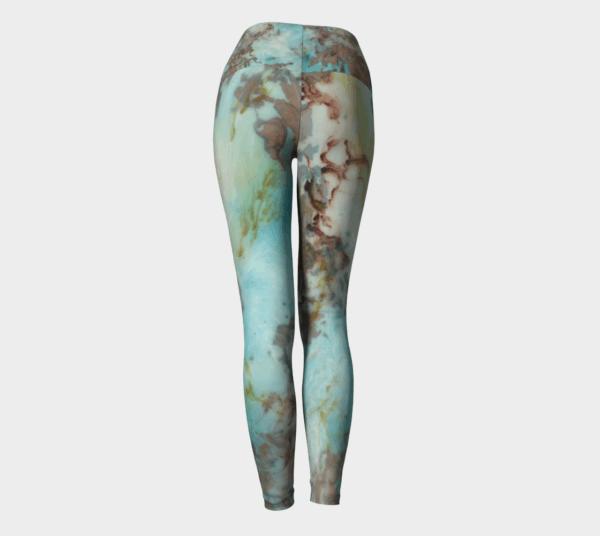 Leggings Copper Abstract Art Leggings 3