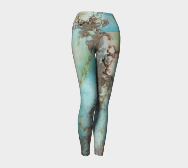 Leggings Copper Abstract Art Leggings 4