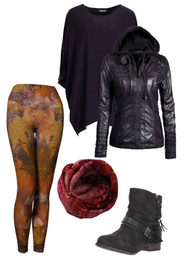 Leggings Fall Leaves Leggings Outfit Ideas 1