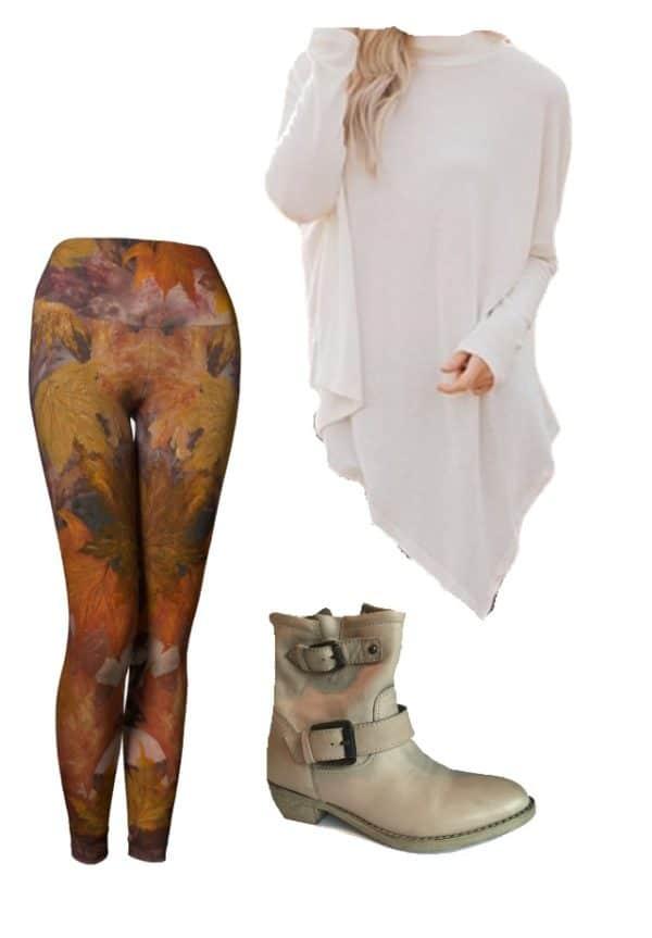 Leggings Fall Leaves Leggings Outfit Ideas 2