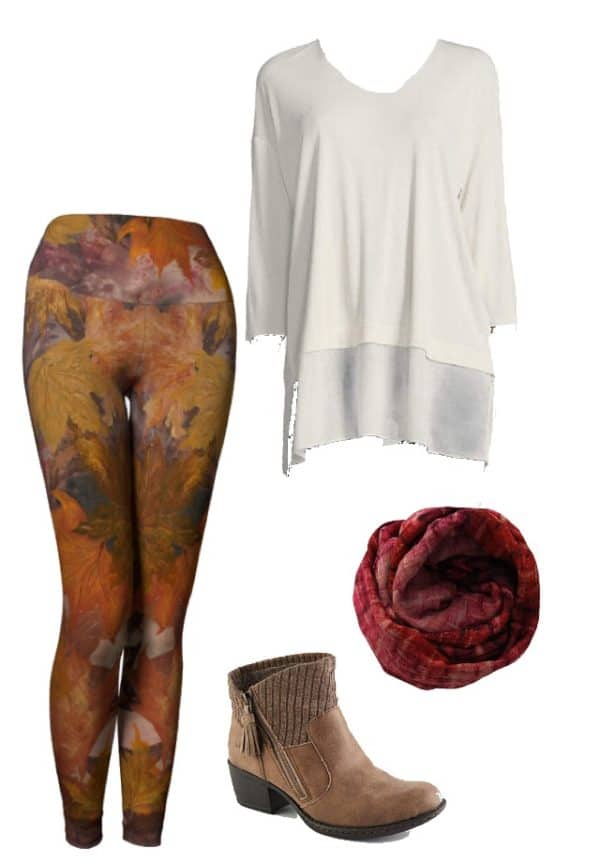 Leggings Fall Leaves Leggings Outfit Ideas 4
