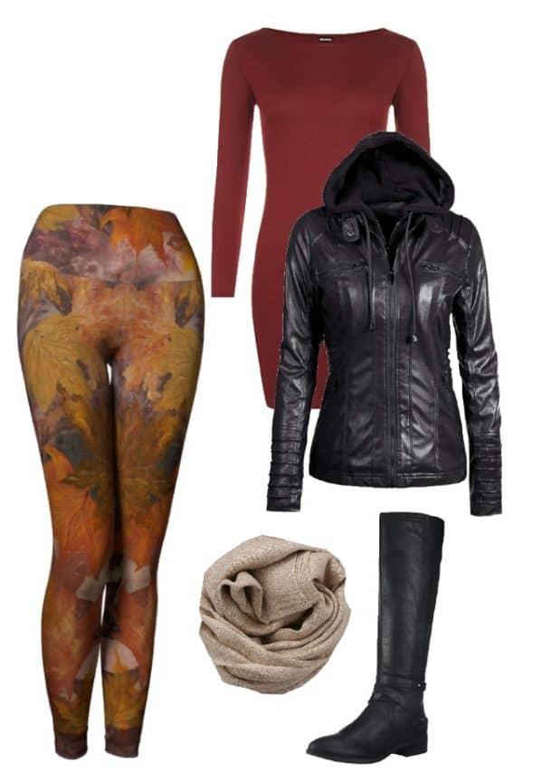 Leggings Fall Leaves Leggings Outfit Ideas 5