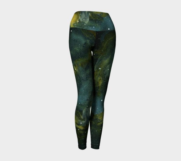 Leggings Green Galaxy Leggings 1