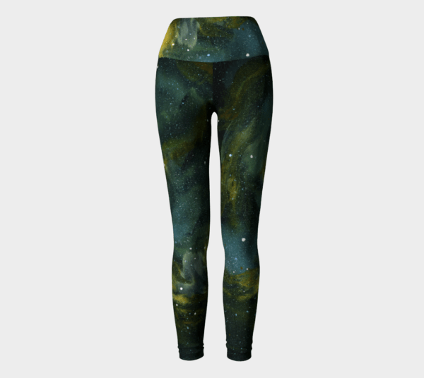 Leggings Green Galaxy Leggings 2