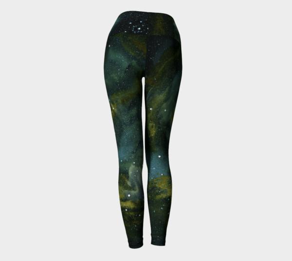 Leggings Green Galaxy Leggings 4