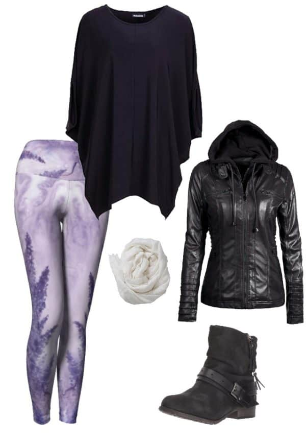 Leggings Lavender Watercolor Leggings Outfit Ideas 1
