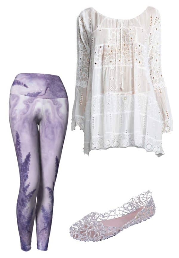 Leggings Lavender Watercolor Leggings Outfit Ideas 2