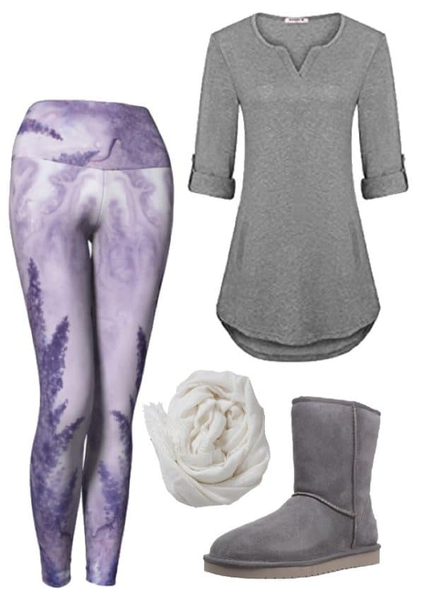 Leggings Lavender Watercolor Leggings Outfit Ideas 3