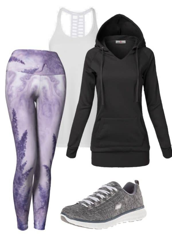 Leggings Lavender Watercolor Leggings Outfit Ideas 4